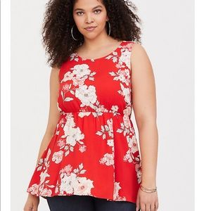 New with tags Torrid sz 0 baby doll top